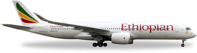 Herpa 531610 Airbus A350-900 Ethiopan Airlines