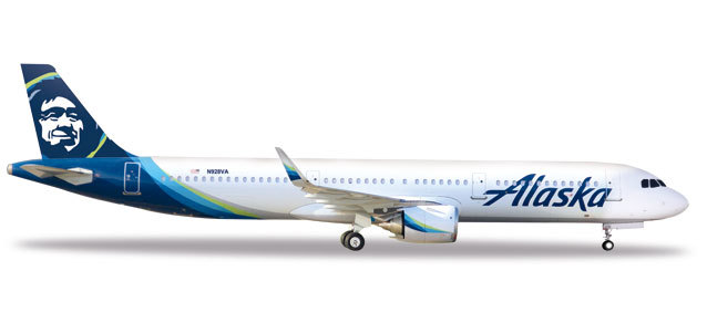 Herpa 531894 Airbus A321neo Alaska Airlines