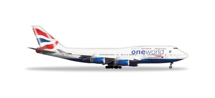 "Herpa 531924 Boeing 747-400 British Airways ""OneWorld"""