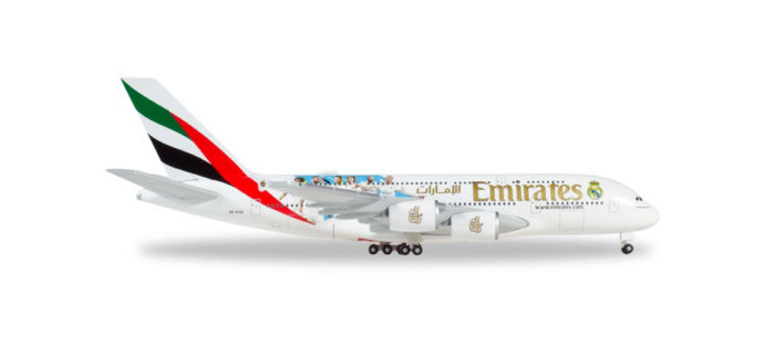 """Herpa 531931 Airbus A380 Emirates """"Real Madrid 2018"""""""