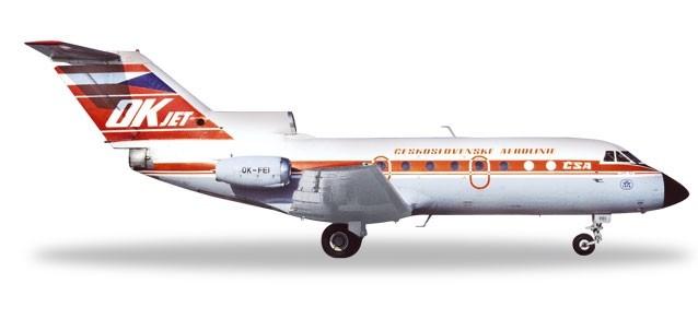 Herpa 559348 Yakoviev Yak-40 CSA  Ceskoslovenske Air