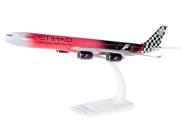 """Herpa 611084 Airbus A340-600 Ethiad Airways """"Abu Dabi G.P"""