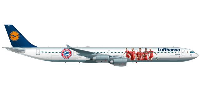 "Herpa 611763 Airbus A340-600 Lufthansa ""FC BayernAudi"