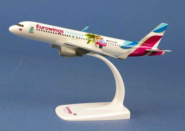 "Herpa 611893 Airbus A320 ""Eurowings Holidays"""