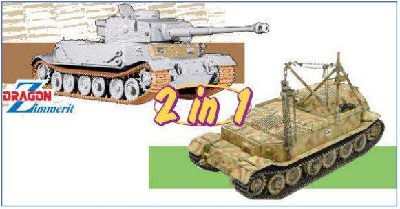 Dragon 6869 Panzerkampfwagen VI(P) / Bergepanzer Tiger(P)