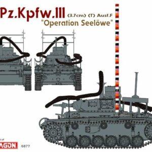 "Dragon 6877 Pz.Kpfw.III (3.7cm) (T) Ausf.F ""OPERATION SEELÖWE"""