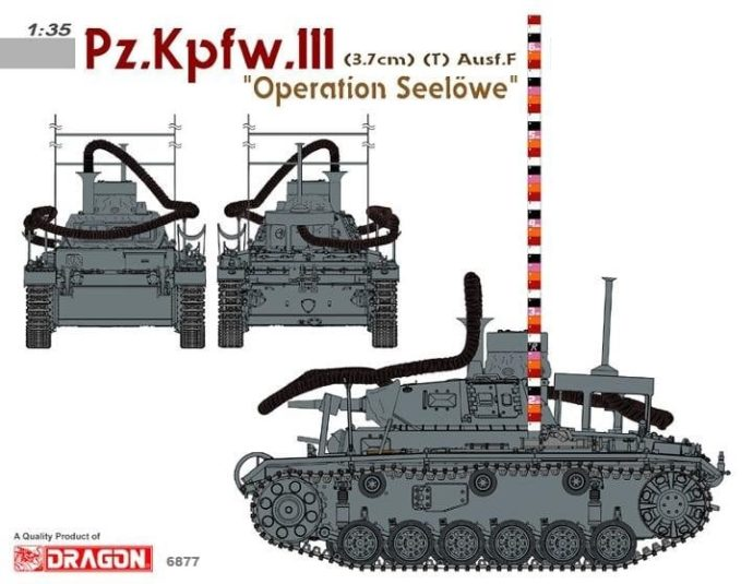 "Dragon 6877 Pz.Kpfw.III (3.7cm) (T) Ausf.F ""OPERATION SEELÖWE"""