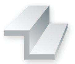 """Evergreen 752 Profilato a canale """"Z""""  350mm 2mm(4)"""