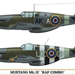 HASEGAWA HA01985 MUSTANG MK.III RAF COMBO (TWO KITS IN THE BOX)