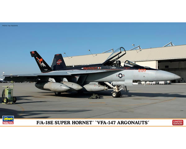 HASEGAWA HA01988 F/A-18 E SUPER HORNET VFA-147 ARGONAUTS