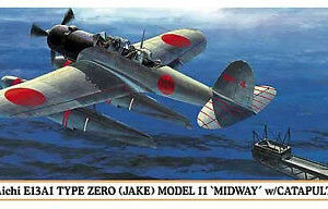 HASEGAWA HA01996 AICHI E13A1 TYPE ZERO (JAKE) MODEL 11 MIDWAY W/CATAPULT