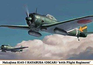 HASEGAWA HA07303 NAKAJIMA KI43-I HAYABUSA (OSCAR) 64TH FLIGHT REG.