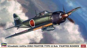 HASEGAWA HA07304 MITSUBISHI A6M5  ZERO FIGHTER TYPE KOH FIGHTER BOMBER
