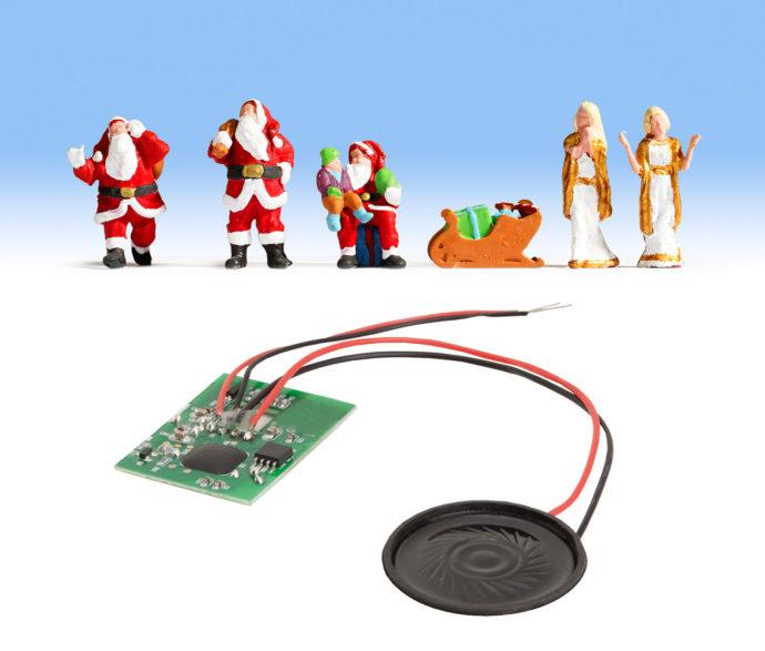 Noch 12897 Figure di Babbo Natale con sonoro
