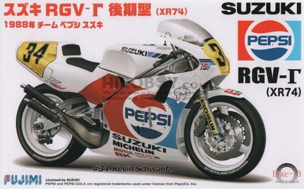"""Fujimi 141435  Suzuki RGV-G XR74 """"Pepsi"""" n° 34"""