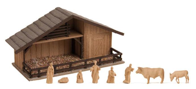 Noch 14394 Capanna di Natale con figure in  legno