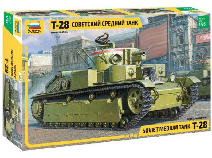 ZVEZDA 3694 T-28 Heavy Tank