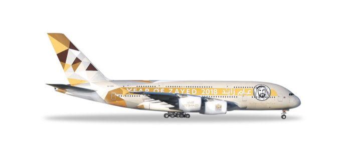 "Herpa 531948 Airbus A380 Etihad Airways ""Year of Zayed"""