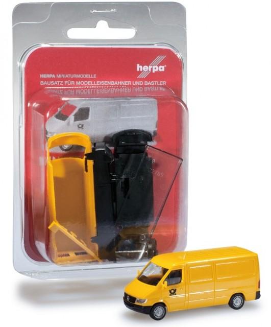 "Herpa 012577 MiniKit: Mercedes-Benz Sprinter box ""Post"""