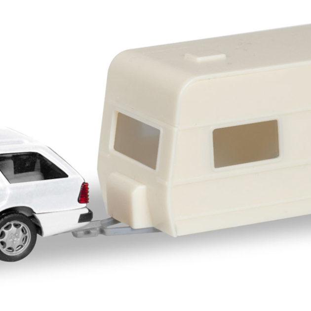 1//87 Herpa MiniKit Opel Kadett E GLS mit Wohnanhänger 013420