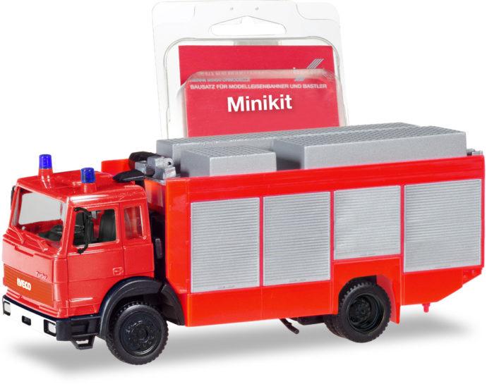 Herpa 013512 Minikit Iveco Magirus pompieri rosso