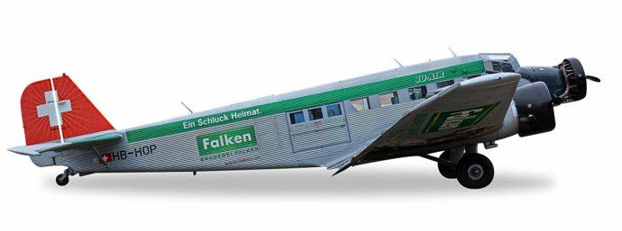 "Herpa 019347-001 Junkers JU-52 ""Brauerei Falken""(nuovi colori)"