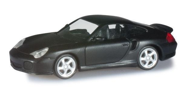 Herpa 038331 Porsche 911 Turbo (996) nero opaco