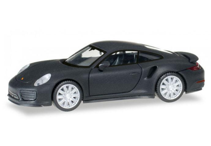 Herpa 038713 Porsche 911 Turbo NERO OPACO