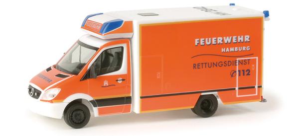 "Herpa 048385 MB SPRINTER ""pompieri Hamburg"""