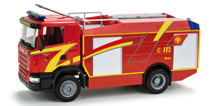 Herpa 049207 Scania R TLF 24/50 Pompieri