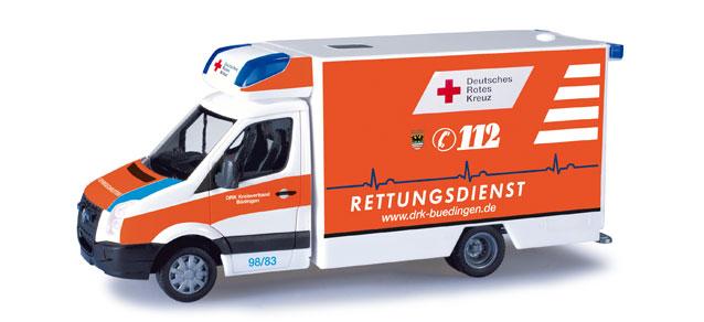 "Herpa 049740 VW Crafter Fahrtec RTW"" DRK Budingen"""