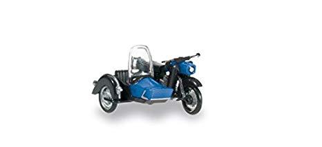 Herpa 053433-002 MZ 250 moto con sidecar