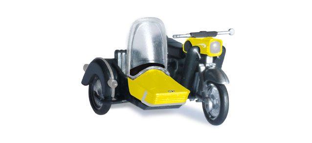 Herpa 053433-003 MZ 250 moto con sidecar