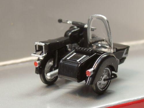 Herpa 053433-004 MZ 250 moto con sidecar
