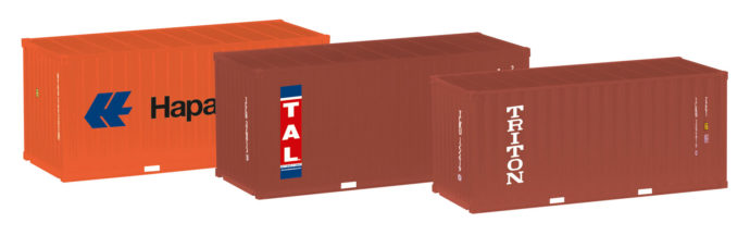 Herpa 076432-003 3 Container 20' Hapag Lloyd/TAL/Triton