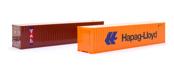 Herpa 076449-002 Set-container  40' (2 pezzi)