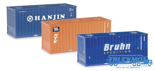 Herpa 076661 Set-Container  20' (3 pezzi)