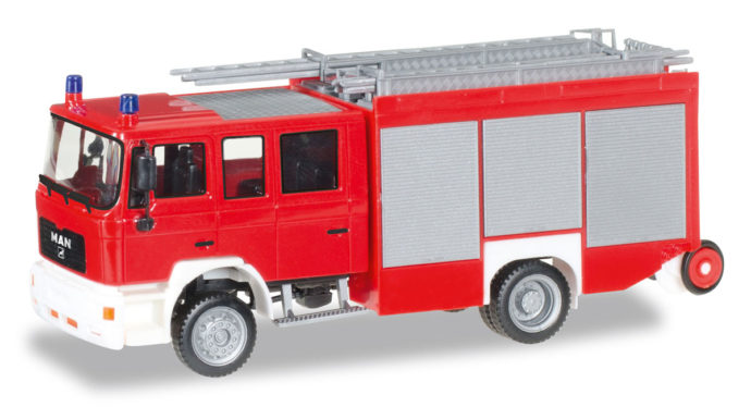 """Herpa 092913 MAN M 2000 fire truck HLF 20 """"fire Department"""