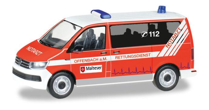 "Herpa 093415 VW T6 Bus ""Malteser/Offenbach"""