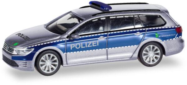 """Herpa 093910 VW Passat Variant GTE """"Polizia Amburgo"""""""