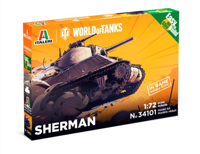 ITALERI 34101 World of Tanks Sherman Easy to build