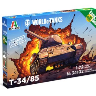 ITALERI 34102 World of Tanks T 34/85 Easy to build