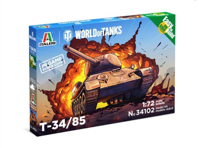 ITALERI 34102 World of Tanks T 34/85 Easy to build