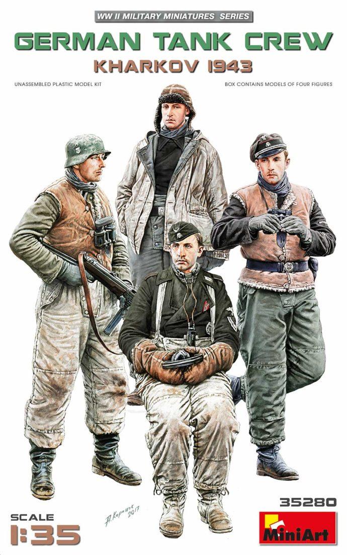 MINIART 35280 German Tank Crew.Kharkov 1943