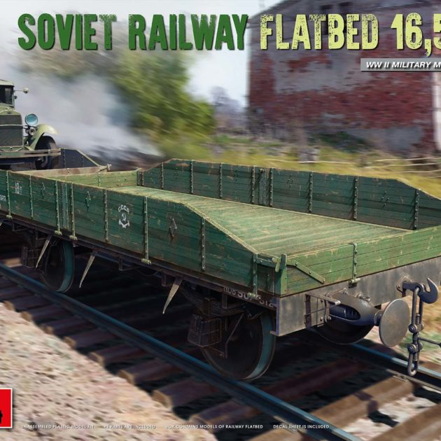 MiniArt 35303 Soviet Railway Flatbed 16