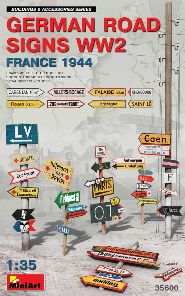 MINIART 35600 German Road Signs WW2 (France 1944)