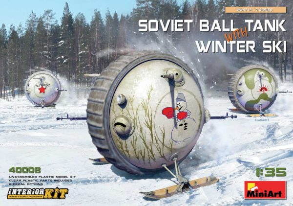 MINIART 40008 Soviet Ball Tank with Winter Ski. Interior Kit