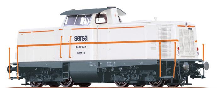 Brawa 42872 Locomotore Serie Am847 delle Sersa