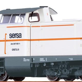 Brawa 42873 Locomotore Serie Am847 delle Sersa in c.a.
