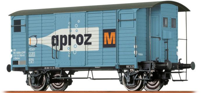 "Brawa 47861 Carro merci chiuso Car Gklm ""Aproz"" SBB"